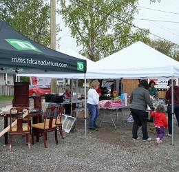 Garage Sale Fundraiser at Royal LePage Aspire Realty Community Involvement