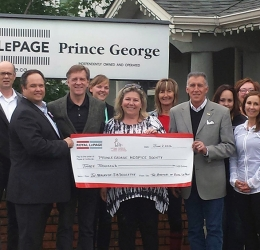 Hospice House Donation from Royal LePage Prince George Community Involvement
